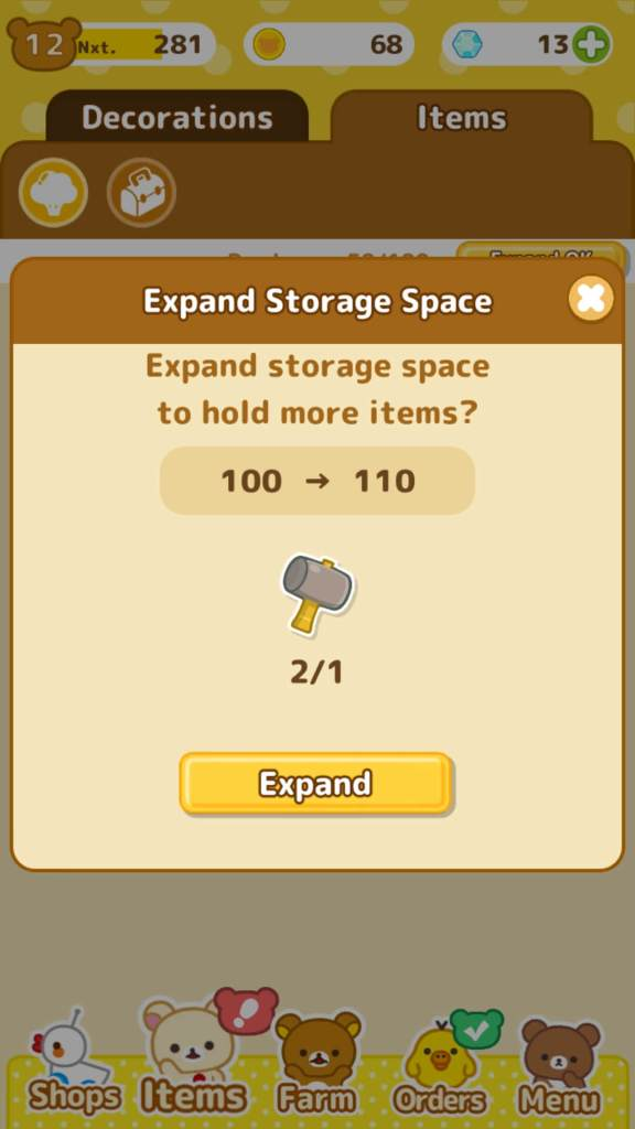 Hammer is used to increase storage space