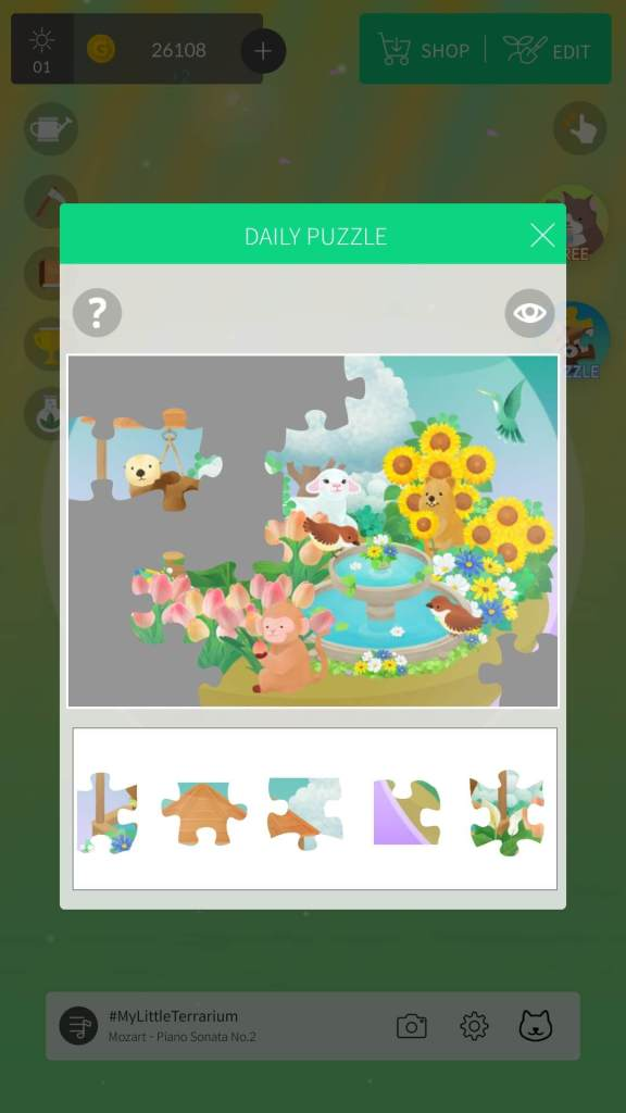 Solve jigsaw puzzles to get gold