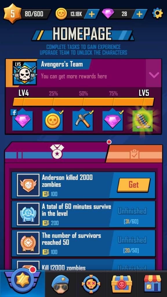 Reach EXP milestones to get rewards