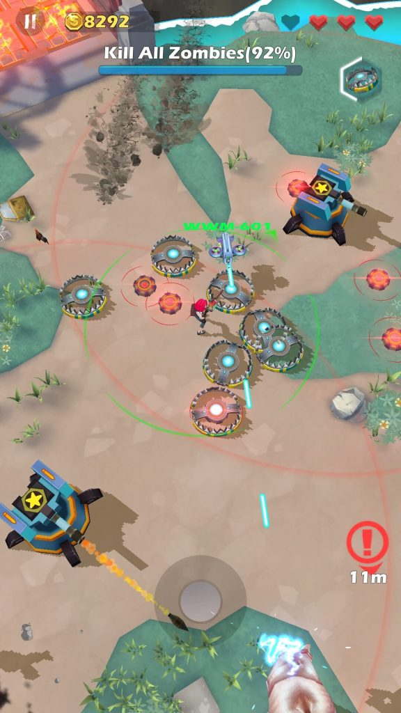 Be close to turrets to deal more damage to enemies.