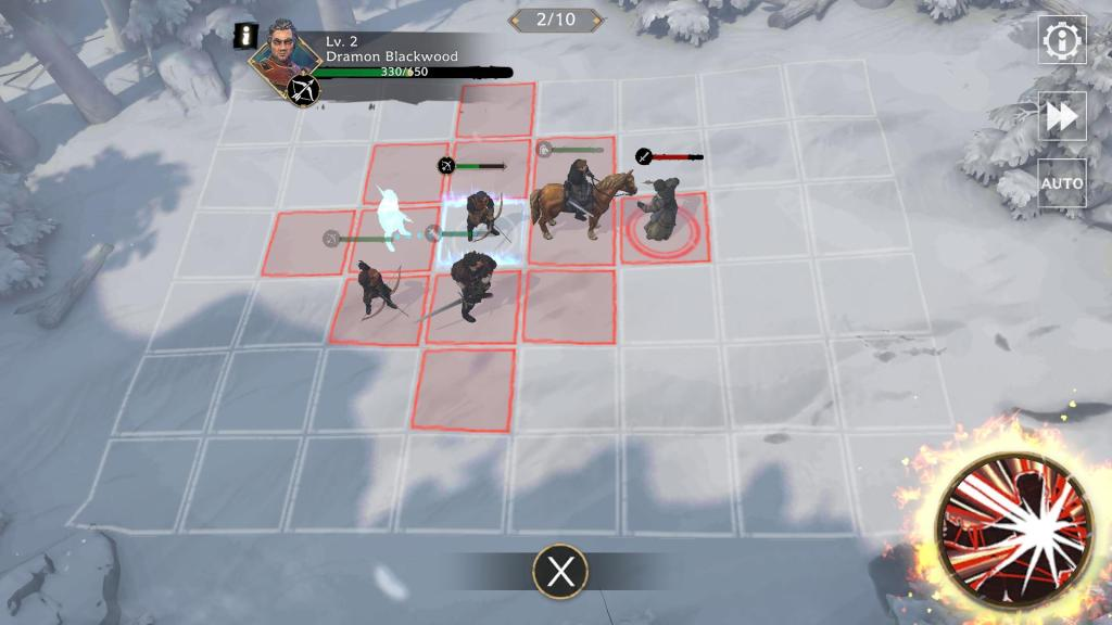 Get your archers behind a unit to attack an enemy