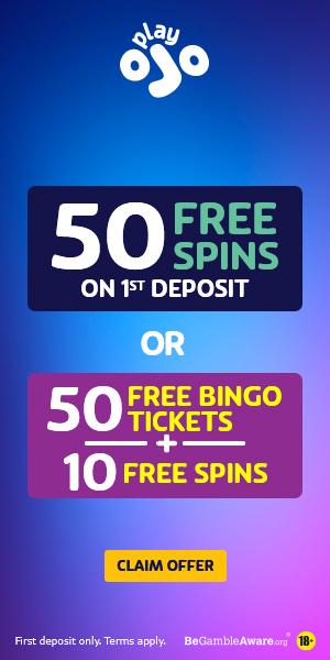 50 free spins first deposit or 50 bingo tickets plus 10 free spins first deposit