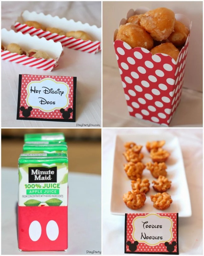 Mickey Mouse Clubhouse Party Ideas and Free Printables from playpartypin.com #Disney #party #freeprintables #MickeyMouse via Mandy's Party Printables