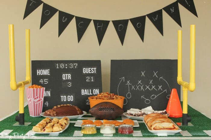 Everything you need to throw a super Super Bowl party including Super Bowl party games, football food ideas, and more!