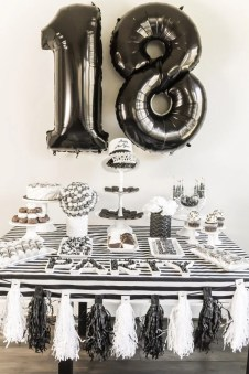 black and white new years eve party ideas