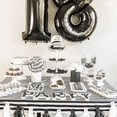 Black and White New Year's Eve Party Ideas