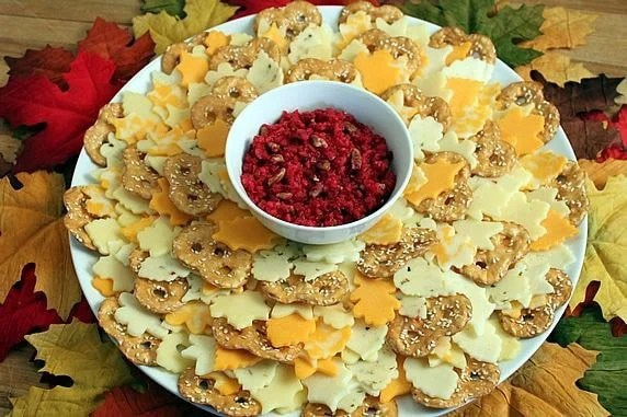 Use cookie cutters to make fun fall party food