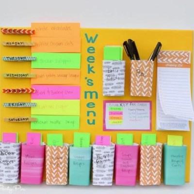 Easy DIY Weekly Menu Board