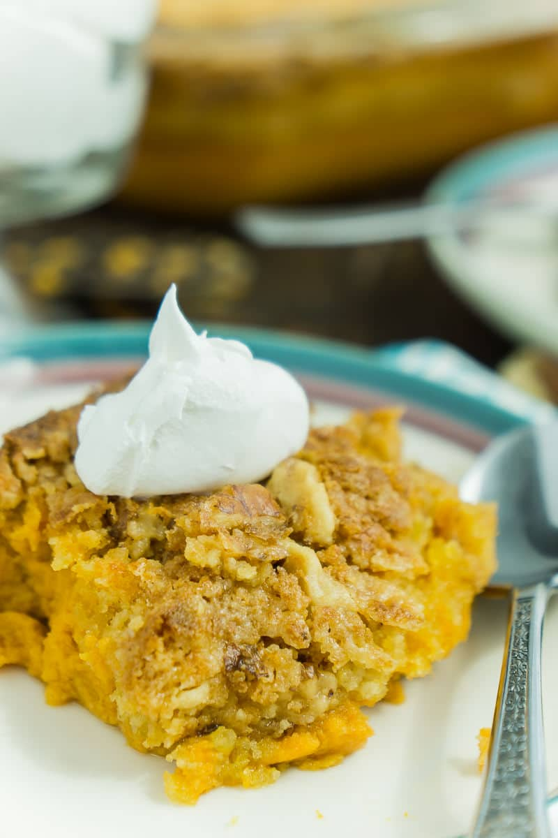 This pumpkin crunch cake is one of the best pumpkin recipes out there