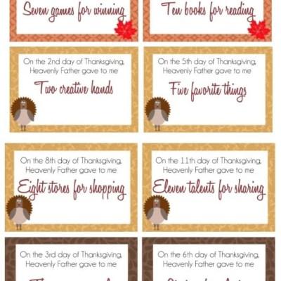 12 Days of Gratitude Activities for Kids