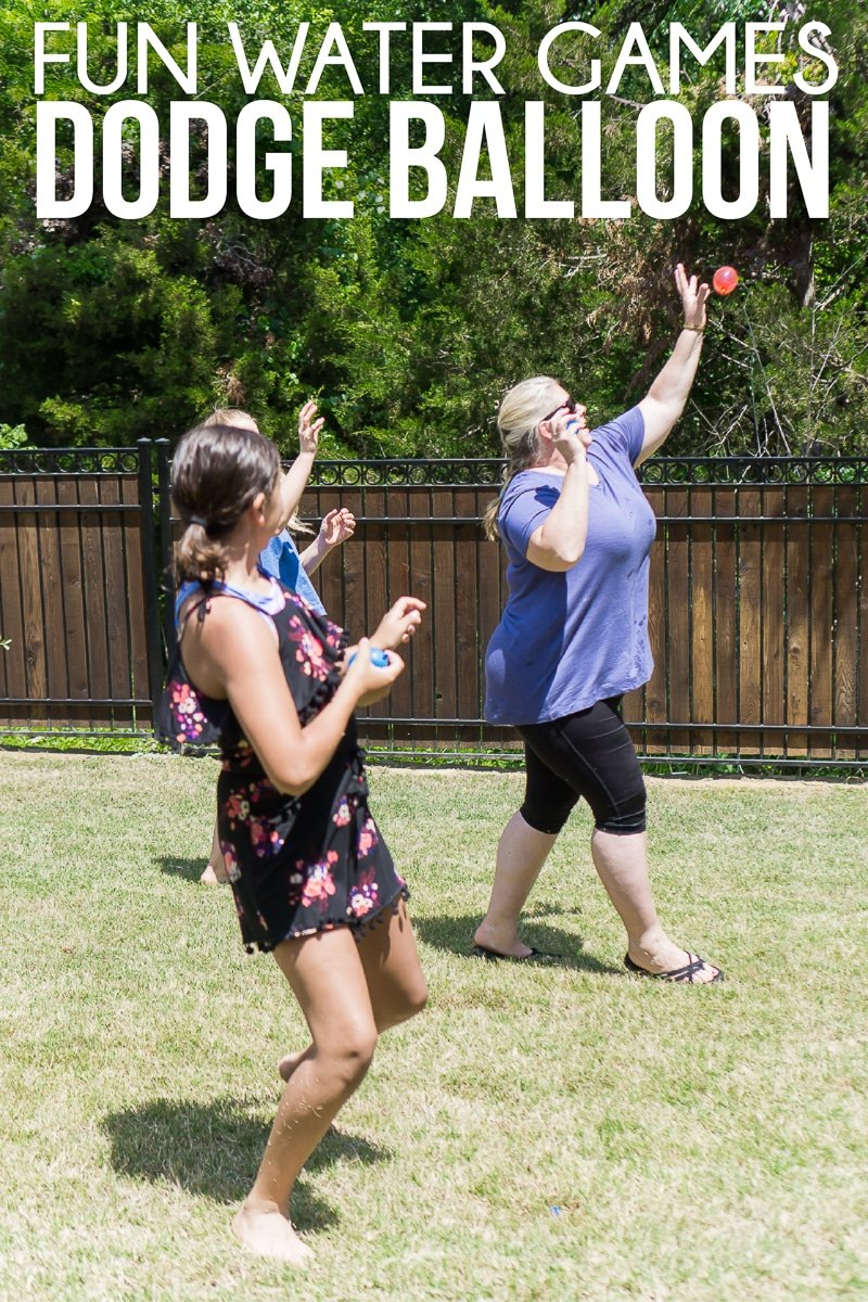 Water balloon dodgeball is one of the best water games