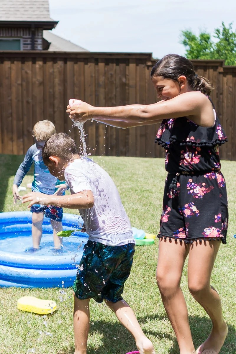 Water games just to get wet