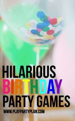 Hilarious Birthday Party Games for Kids   Adults   Play Party Plan Hilarious Birthday Party Games