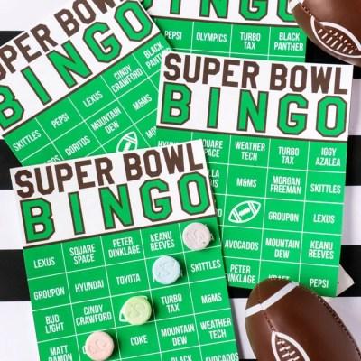 2019 Super Bowl Commercial Bingo Game