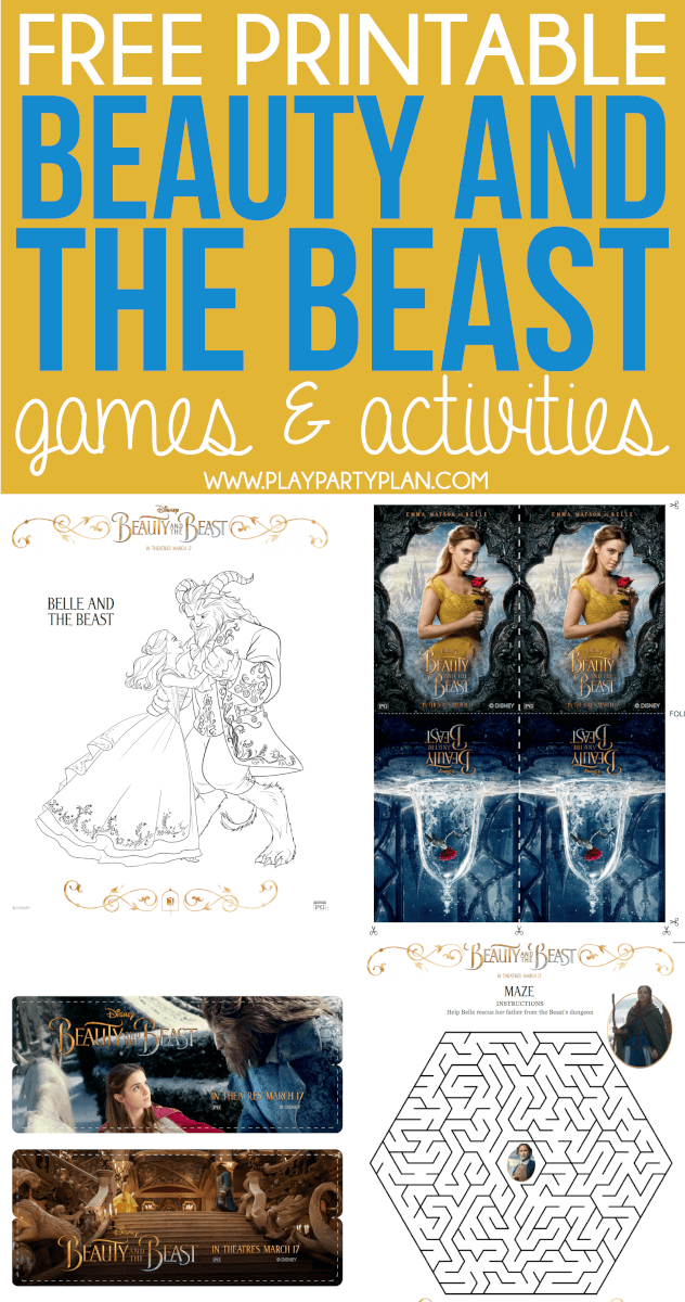 Free Printable 2017 Beauty And The Beast Games