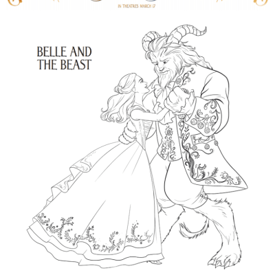 Free Printable 2017 Beauty and the Beast Games & Coloring Pages