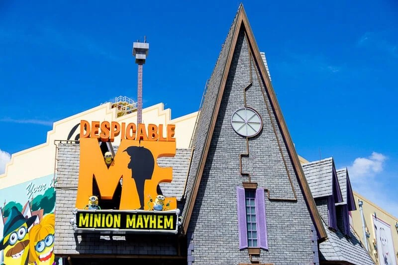 Minions Mayhem is a family favorite ride at Universal Studios Orlando