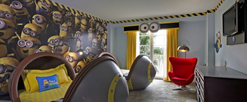 Don't miss the kids' Despicable Me suites at Loews Portofino Bay Hotel