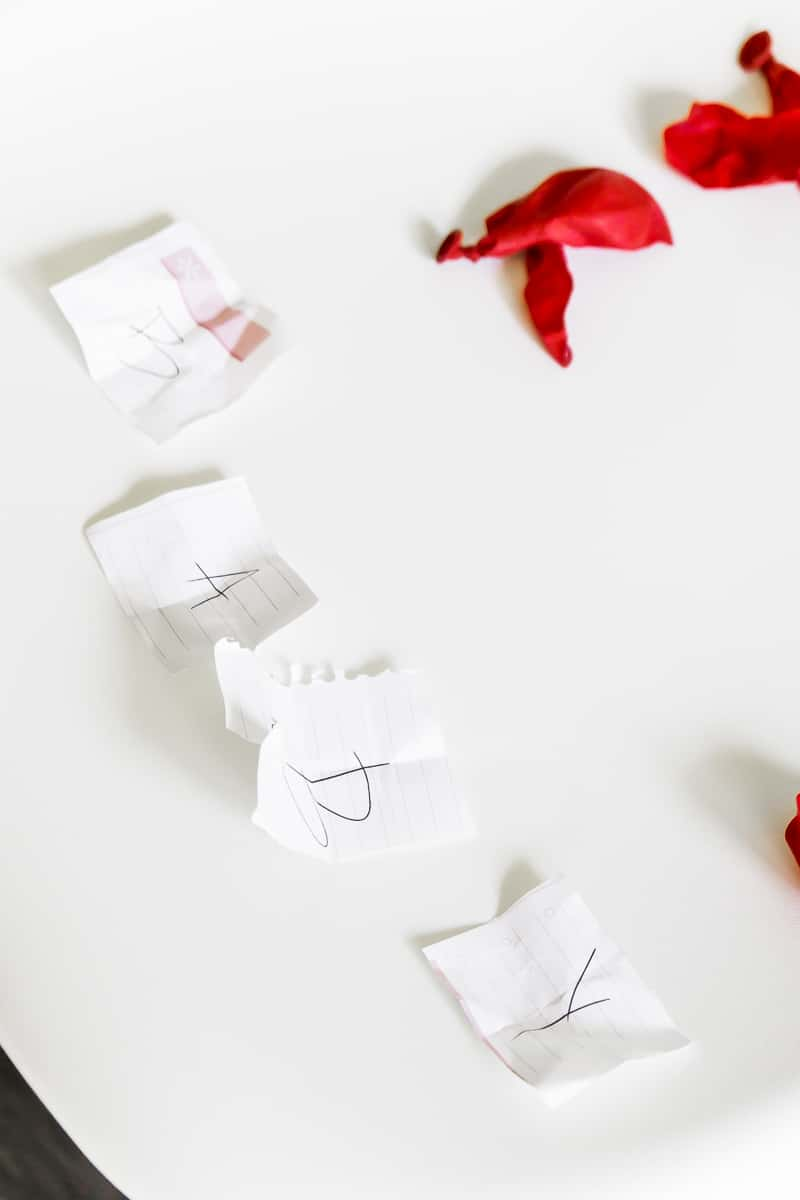 Baby letters like baby sitter and baby shower games