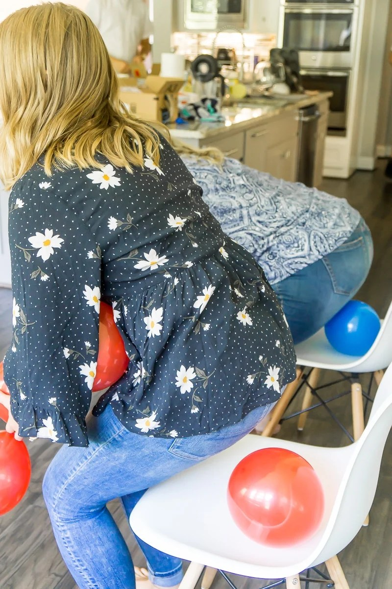 This baby sitter game is one of the best baby shower games