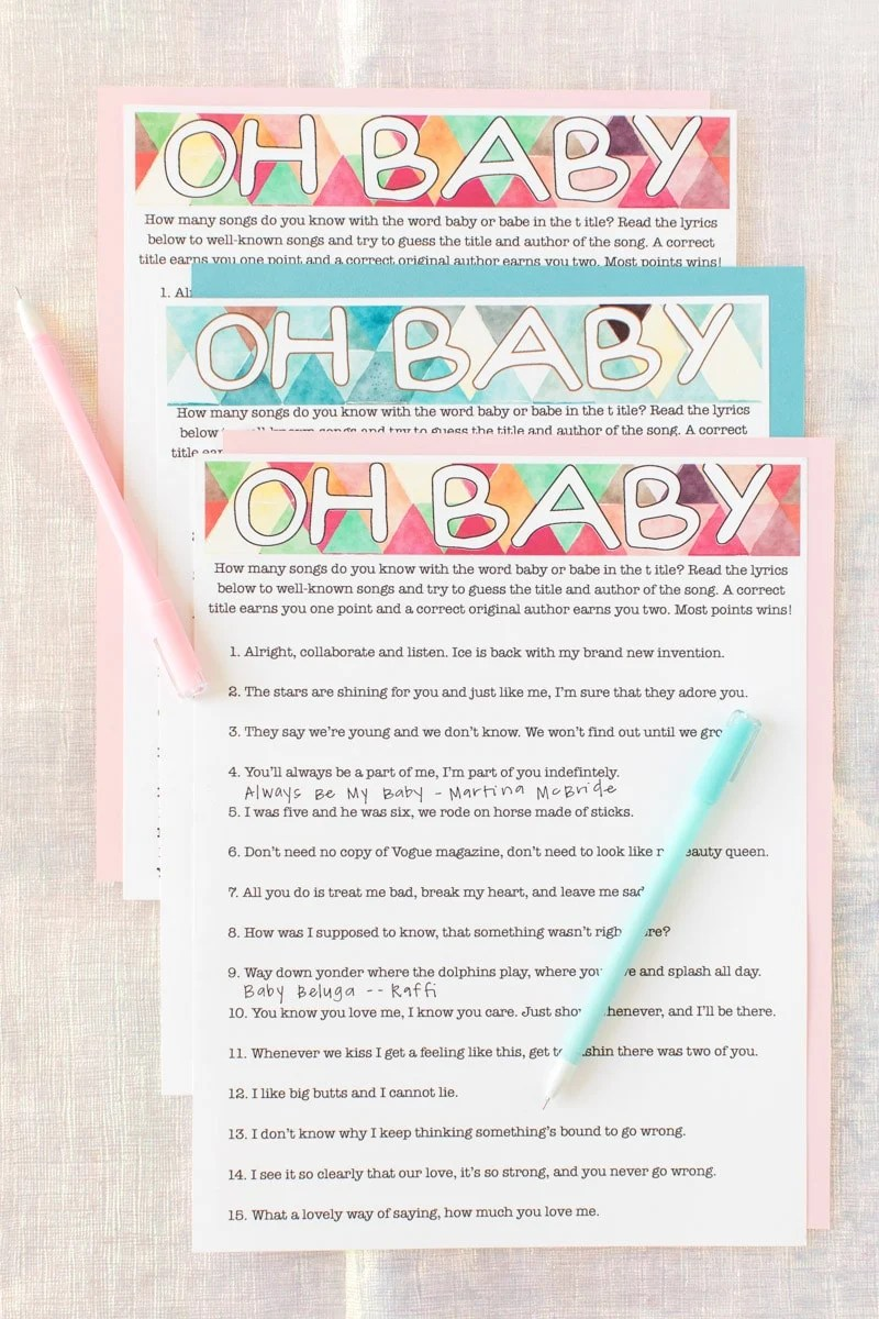 photograph regarding Baby Boy Shower Games Free Printable known as 3 Ideal Child Shower Video games