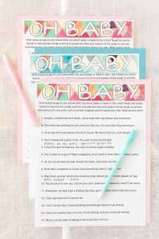 21 Of The Most Fun Baby Shower Games Play Party Plan