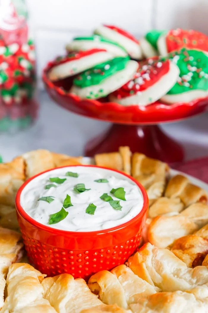 Turn food favorites into Christmas party food with little additions