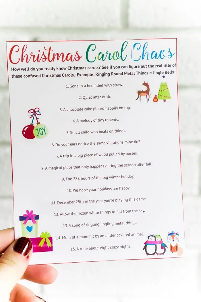 photo about 12 Days of Christmas Lyrics Printable called 25 Simple Xmas Social gathering Video games By yourself Comprise in the direction of Participate in This Yr