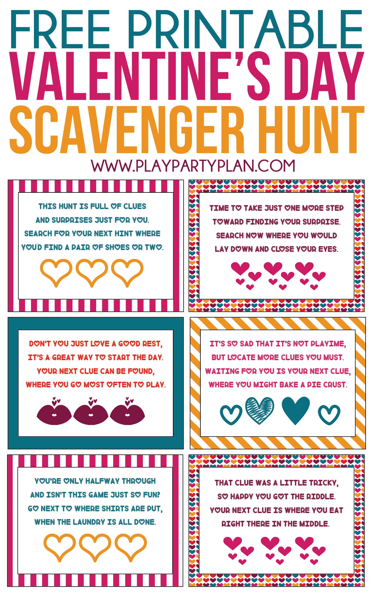 Free Printable Valentine S Day Scavenger Hunt Kids