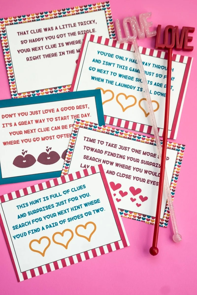 Free Printable Valentines Day Scavenger Hunt Kids