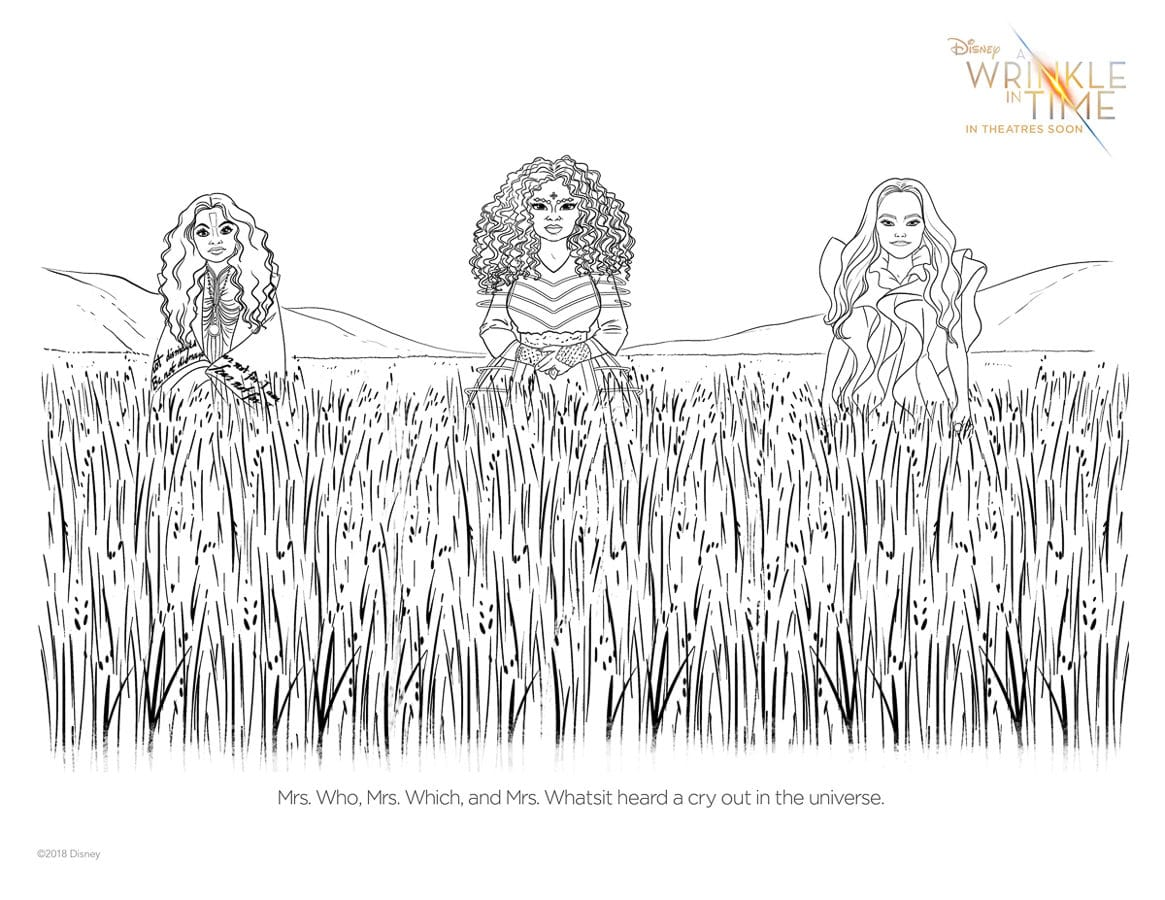Free Printable A Wrinkle In Time Activity Sheets