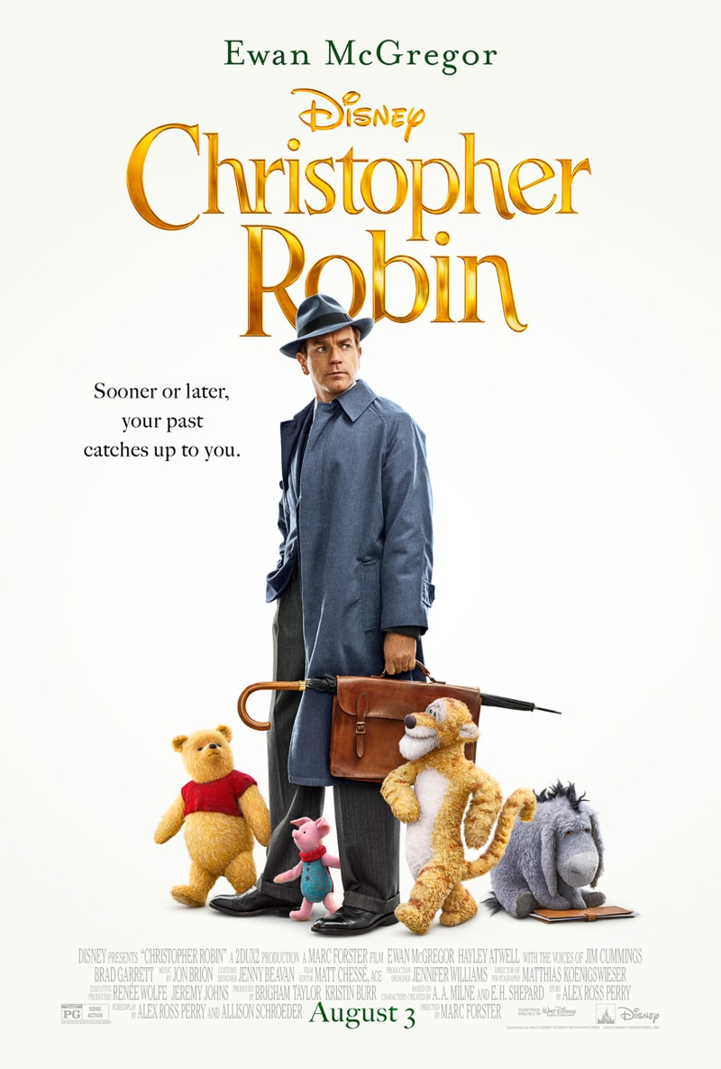 Christopher Robin movie poster showing Christopher with friends