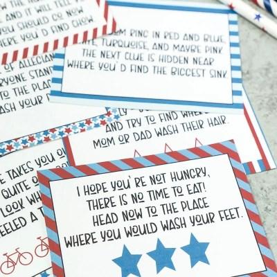 Printable 4th of July Scavenger Hunt + Tips for Impromptu Summer Parties