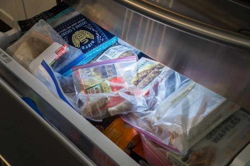 Shot of a stocked freezer in preparation for a 4th of July party