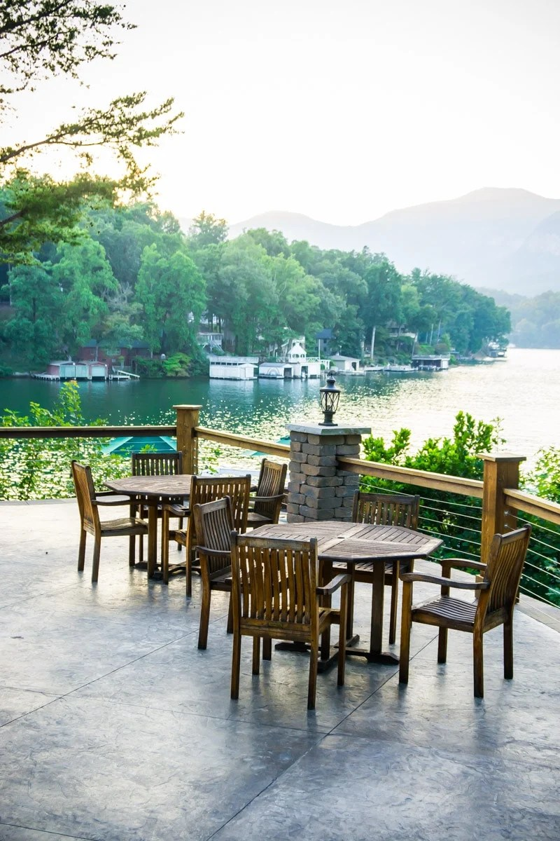 The view from the back of one of the most scenic restaurants in Lake Lure NC