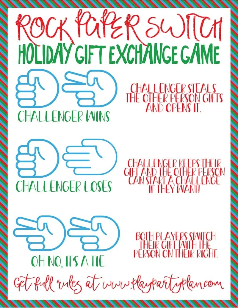 December Dice Game Gift Exchange Rules | Creativepoem.co