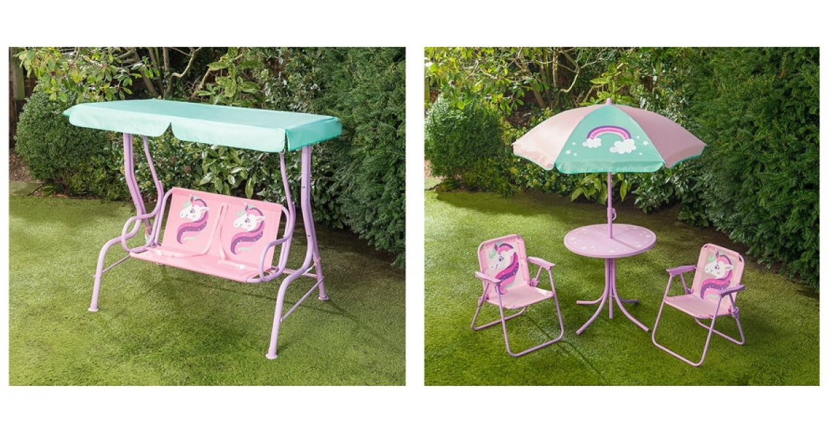 unicorn kids children garden patio