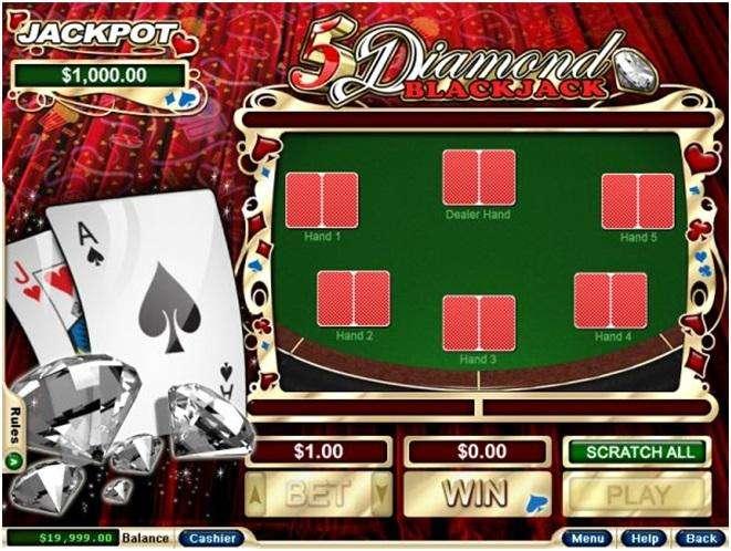5 Diamond Blackjack Scratchie