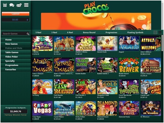 Play Croco Casino- Games to play with your mobile