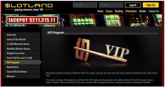 Slotland Casino VIP