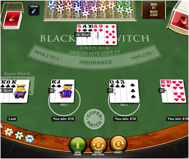 how to play blackjack switch online
