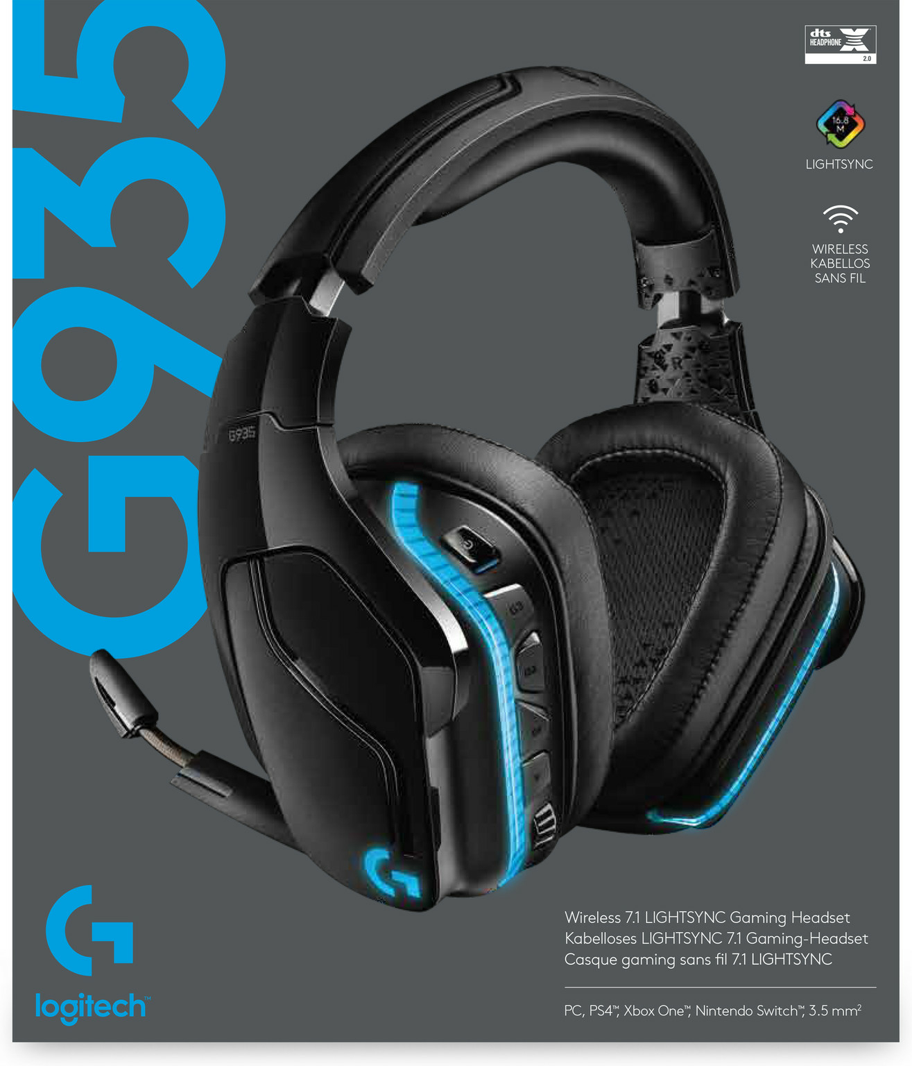 Review : Logitech G935 Surround LIGHTSYNC Gaming Headset