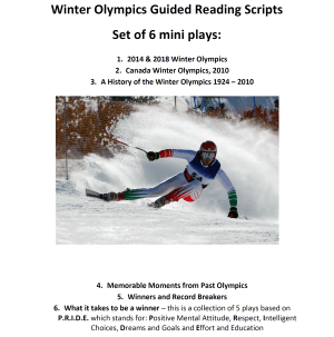 Winter Olympics guided reading