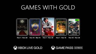 Xbox Games With Gold – Les jeux gratuits de février 2021