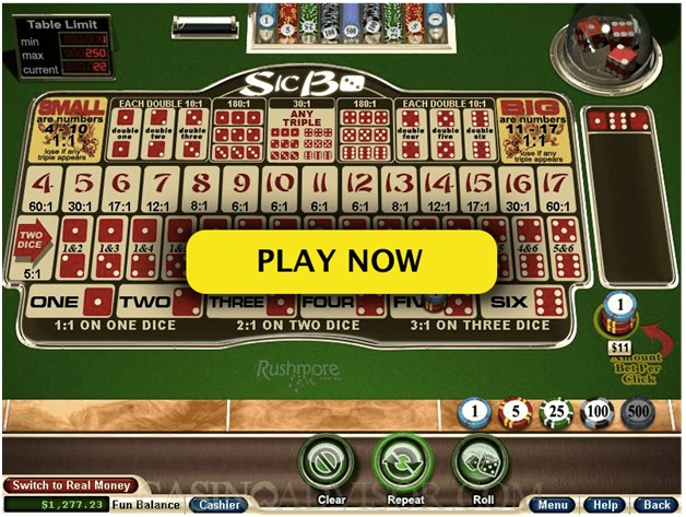 Online casinos to play Sic Bo