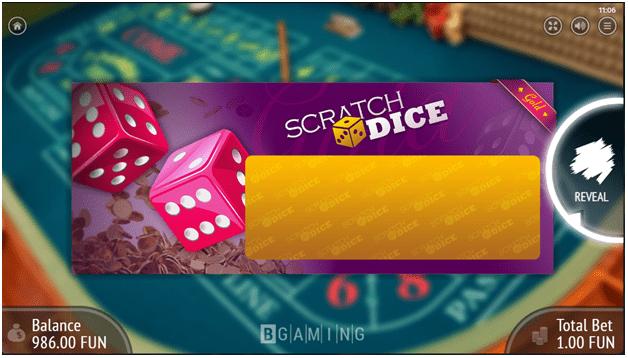 Scratch Dice Game - Golden ticket