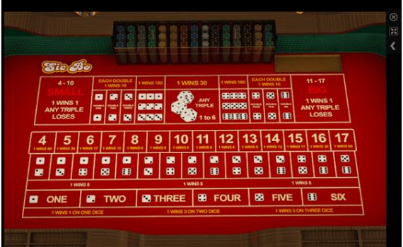 Sic Bo at Emu Casino