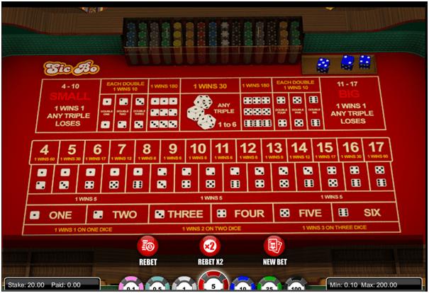 Sic Bo Casino at Emu Casino