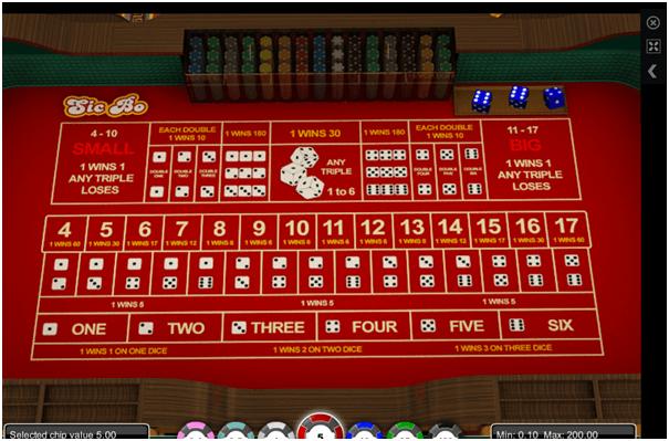 Sic Bo at Emu Casino with AUD