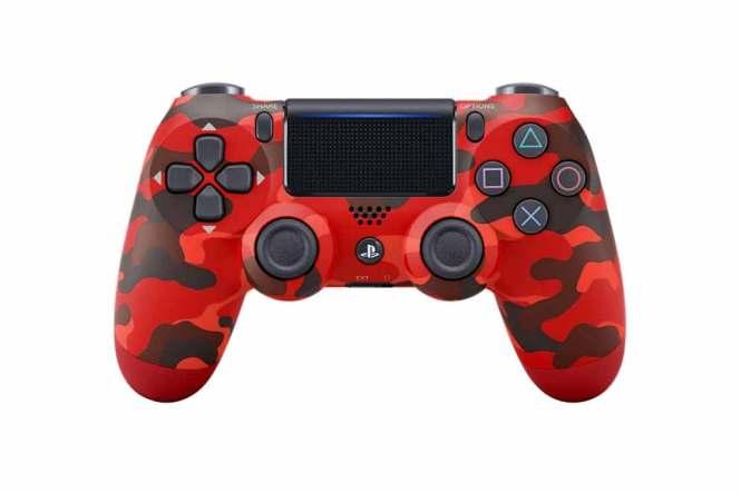 Ovladač PlayStation červená kamufláž